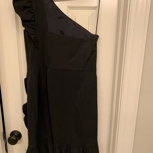 Worn once J Crew Black Gown